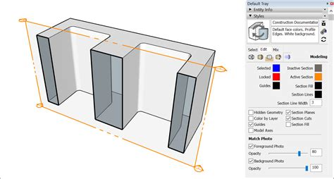 section cut slicing a model to peer inside sketchup knowledge base