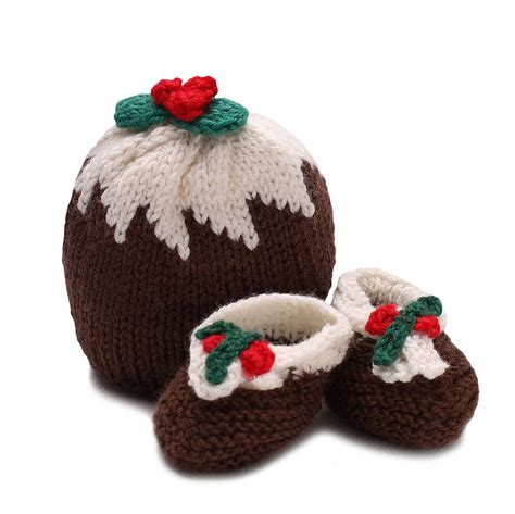 knitting pattern xmas pudding hat christmas pudding hat and bootees set by anagibb