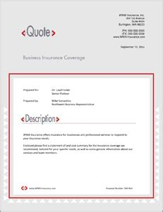 Insurance Coverage Services Sle Proposal 5 Steps Free Commercial Insurance Template