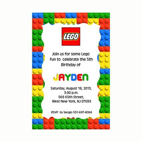 lego birthday card template lego birthday invitation printable mary party