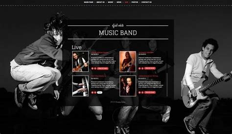 Music Band Website Templates That Will Rock You Rock Band Web Template