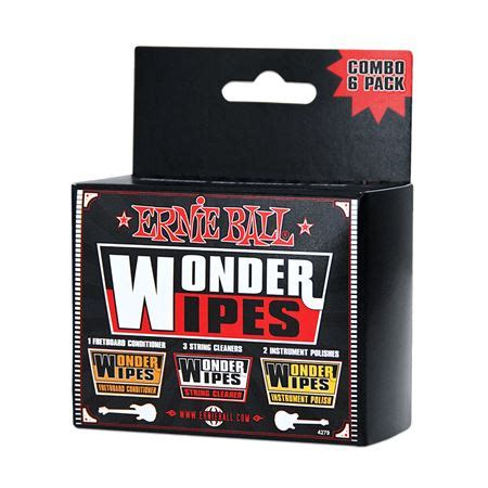 Ernie 4276 Wipes Fretboard Conditioner 6 Pack ernie p04279 wipes multi pack