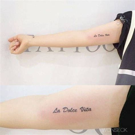 la dolce vita tattoo designs la dolce vita on the right inner arm