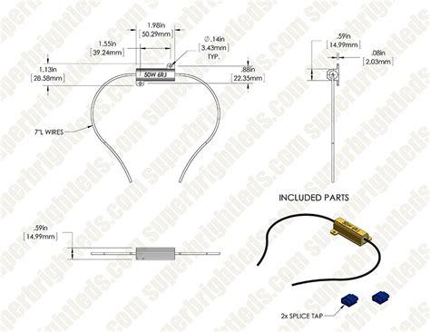 led load resistor wiring diagram for trailer lights led