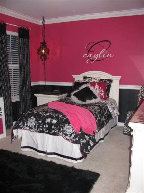 pink bedroom wall designs chic pink and black bedroom wall theme design and decor ideas