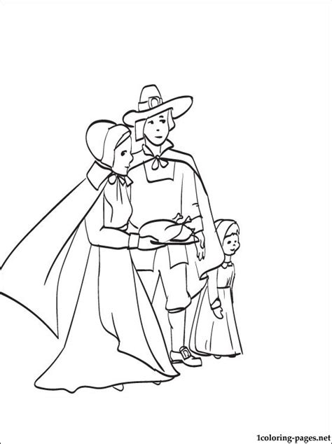 thanksgiving feast picture to color coloring pages