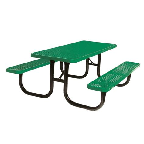 commercial picnic benches paris 4 ft green buddy bench 460 343 8001 the home depot