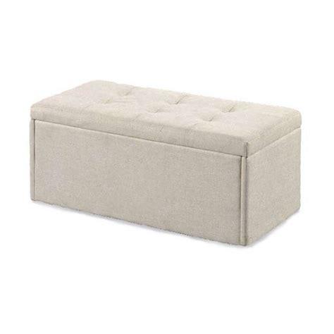 fabric ottoman storage bench castel fabric ottoman storage bench in neutral cream 27888