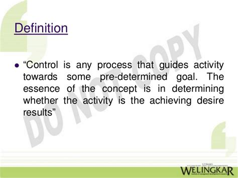 Controlling Definition | principles of management chpt 17 controlling