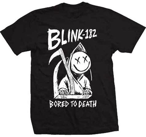 Kaos Blink 182 Dtg Print blink 182 bored to t shirt