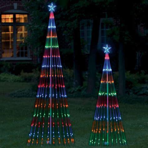 the led light show tree hammacher schlemmer