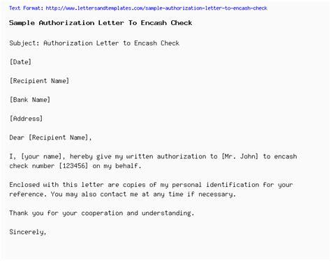 authorization letter encash check on behalf of email sle sle of authorization letter