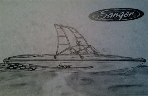 ski boat drawing visual art sanger ski boat drawing non pony artwork