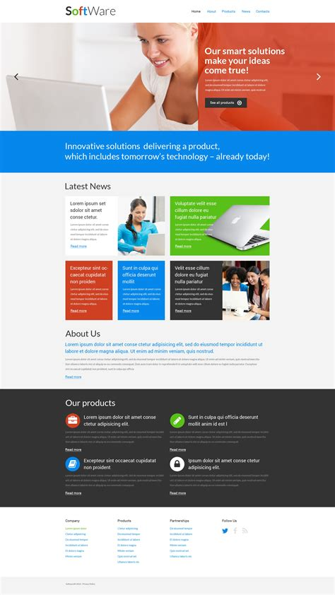 template software software company responsive website template 51277