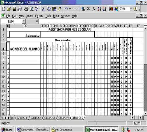 registro de asistencia el blog de olimpia asistencia resumen ed 250 cate con excel y algo m 225 s