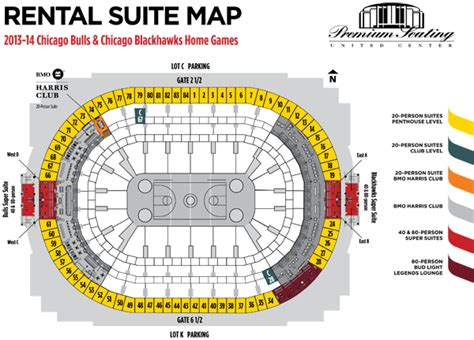 united center seating map day of event rental suites premium seating services united center