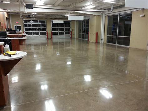 Floor Center by Car Service Center Polished Concrete Floor