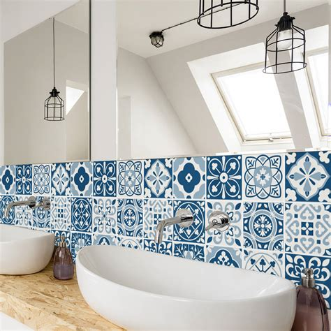 moroccan tiles stickers pack of 16 tiles tile decals blue moroccan tile stickers set pack of 24 by sirface