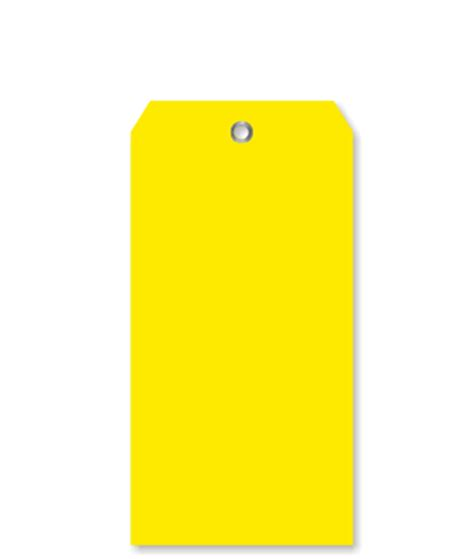color tag yellow color coded polypropylene tag plastic tags sku