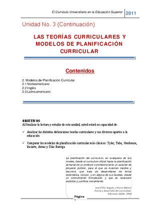 Modelo Curriculum Norteamericano Teorias Curriculares By Daniel Calvillo Issuu