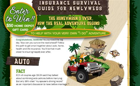 Home Depot Gift Card Help - giveaway an insurance survival guide for newlyweds a 50 home depot gift card an