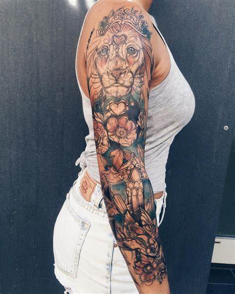 sleeve tattoo women ver esta foto do instagram de pliszkamagdalena 2 545