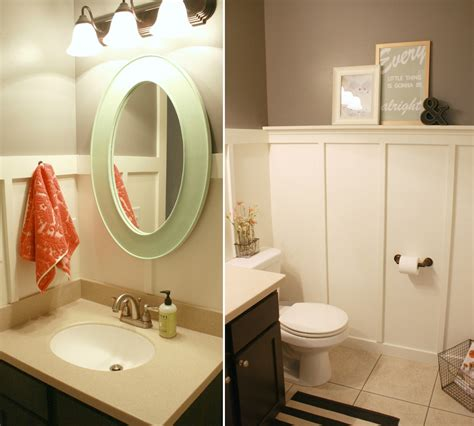 board and batten bathroom renovation