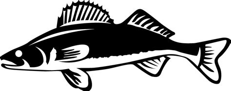 Fish Wall Sticker walleye clipart clipart suggest