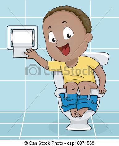 dessin sur papier toilette illustration of a little boy reaching for toilet paper