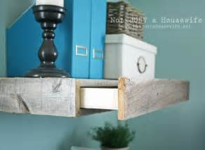 Nightstand Hidden Drawer Reclaimed Wood Floating Shelves Not Just A Housewife