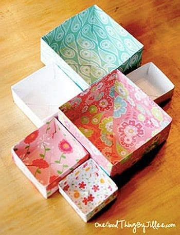 How To Make Handmade Boxes - how to make a gift box one thing
