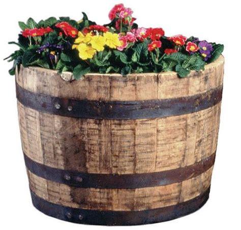half oak barrel planter at menards i love these barrels