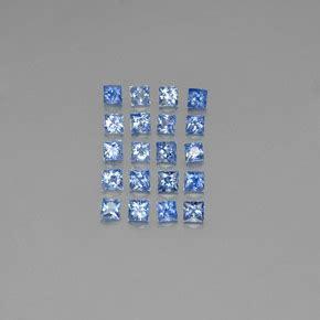 Blue Safir Sapphire 6 15ct 3 2 carat square 2 7x2 7mm princess cut blue sapphire