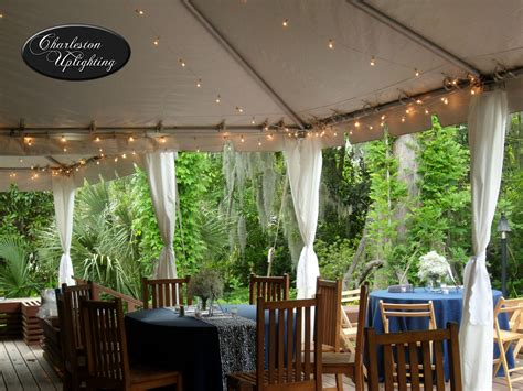 Outdoor Tent Lighting Outdoor Tent String Cafe Lighting At Magnolia Plantation Conservatoryoutdoor Tent String Cafe