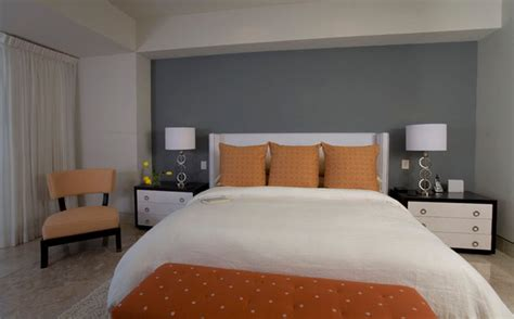 Orange And Grey Bedroom Decor by Window Treatments Modern Bedroom Orange County By