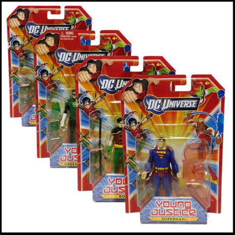 summary justice an all action 1408708728 mattel young justice league figures dc universe superman artemis 8 to choose ebay