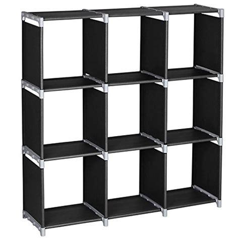 9 cube bookcase black songmics 3 tier storage cube closet organizer shelf 9 cube
