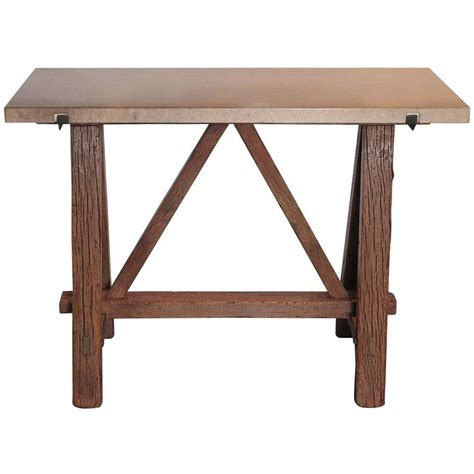 Vintage Entry Table Antique Saw Entry Table Circa 1910 At 1stdibs