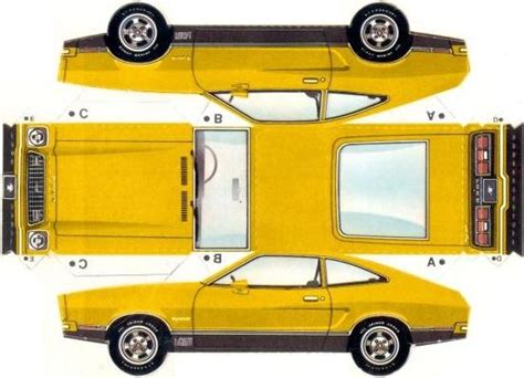 How To Make A Car Model With Paper - papermau 1974 s mustang ii hatchback paper model by