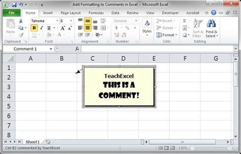 format excel comments add formatting to comments in excel teachexcel com