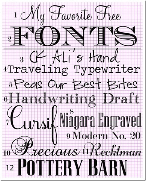 fonts free my favorite free fonts in my own style