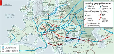 russia europe pipeline map conscious uncoupling european energy security
