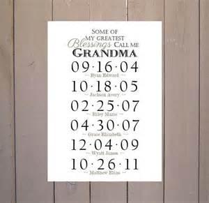 grandma gift grandchildren birthday dates by