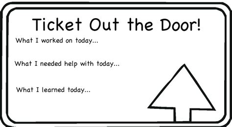 Ticket Out The Door Template aps reading march 2012