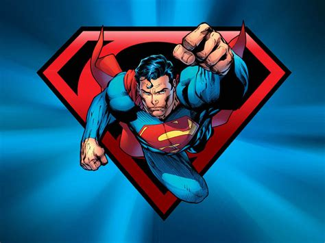 wallpaper cartoon superman superman flying wallpaper wallpapersafari