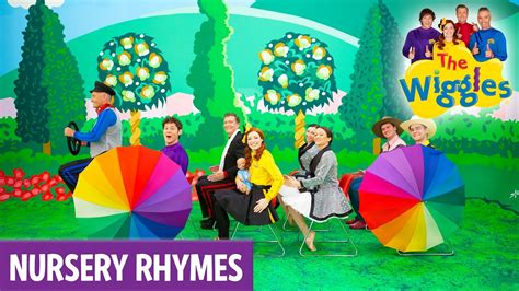row your boat wiggles the wiggles nursery rhymes wheels on the bus youtube