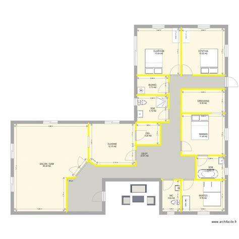 plan maison 3 chambres 1 bureau plan villa plain pied 4 chambres 12 charmant maison 3 1