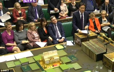 conservative front bench david cameron under fire from ed miliband as pmqs