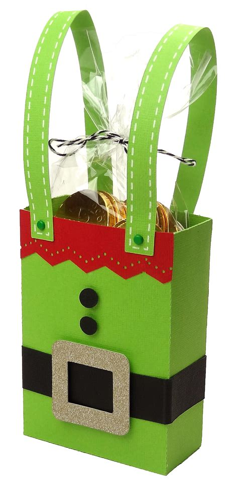 Gift Card Bag - made with love by you cards and wrap ideas christmas santa and elf gift bags