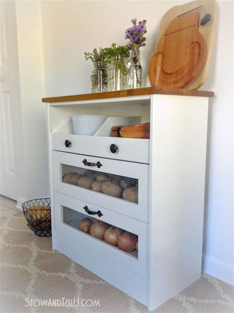 Potato And Storage Cabinet by 25 Best Ideas About Vegetable Storage On